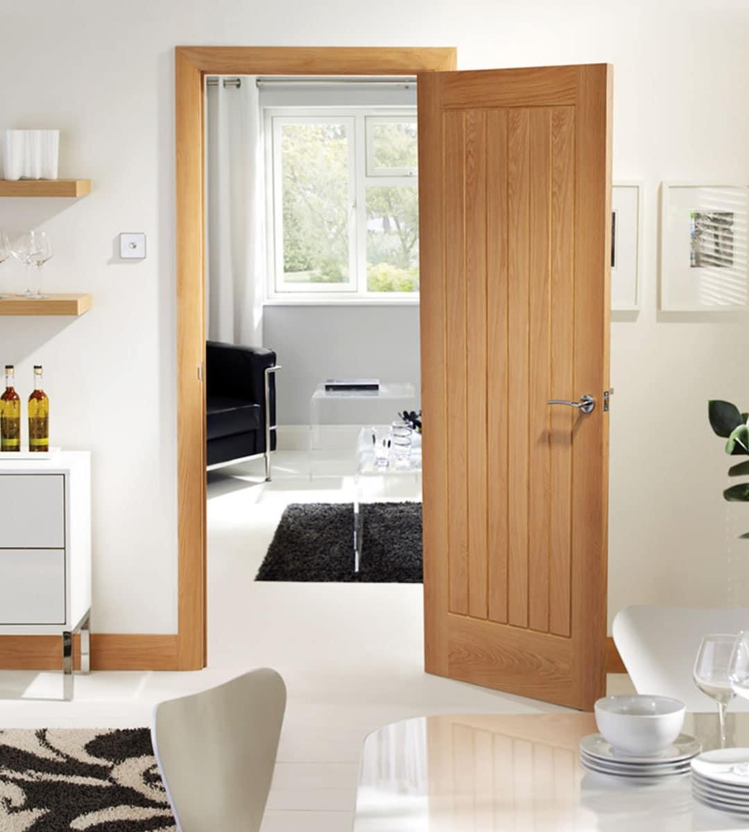suffolk oak internal bedroom door