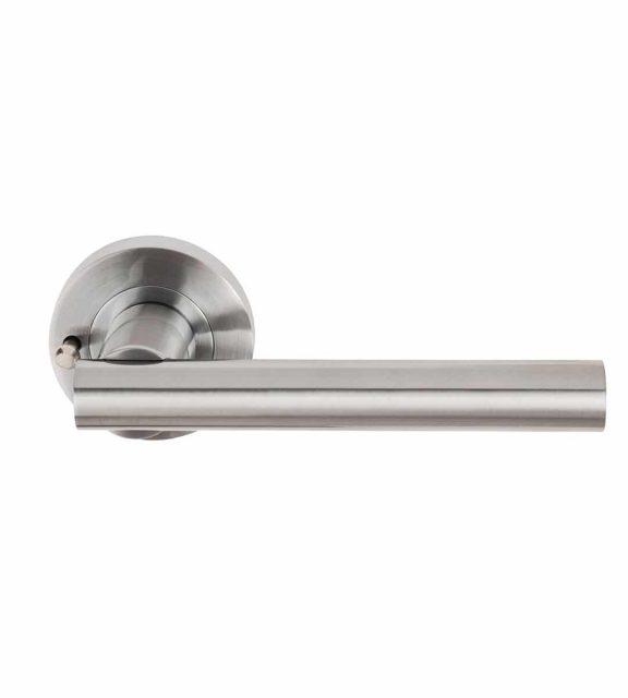 Sultan Satin Chrome Door Handle Privacy Lock