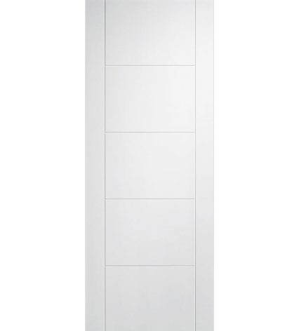 Vancouver White Internal 5 Panel Door - 2040mm-x-826mm-x-35mm