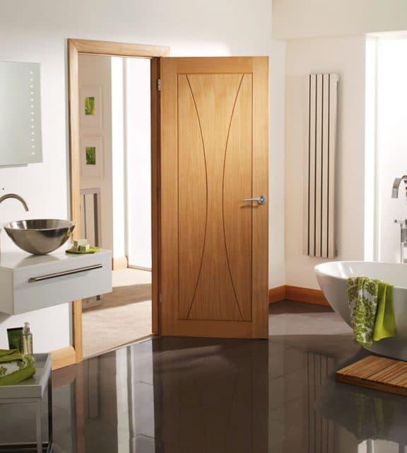 Internal Door Oak Verona Room Open
