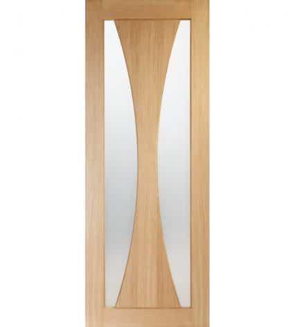 Shawfield Verona Oak Internal Door with Obscure Glass - 1981mm-x-610mm-x-35mm