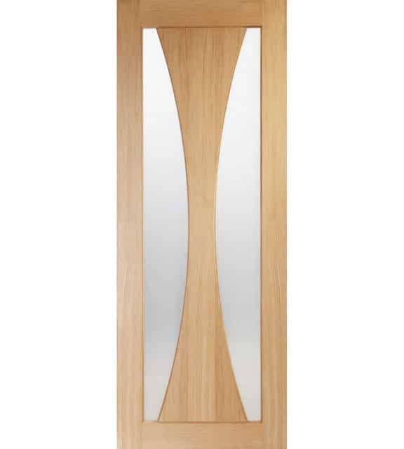 Internal Oak Door Verona with Obscure Glass
