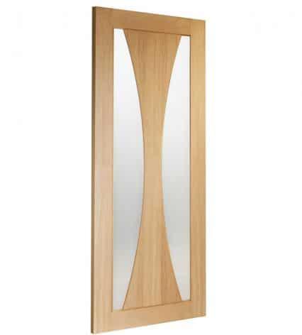 Verona Oak Internal Door with Obscure Glass - 1981mm-x-686mm-x-35mm