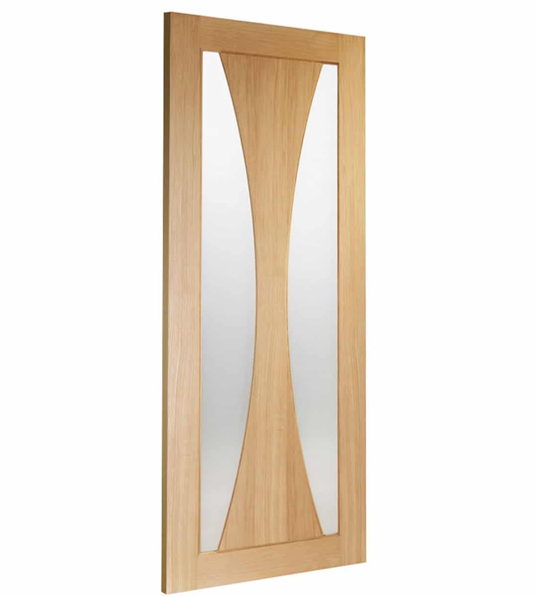 Internal Oak Door Verona With Obscure Glass Skew