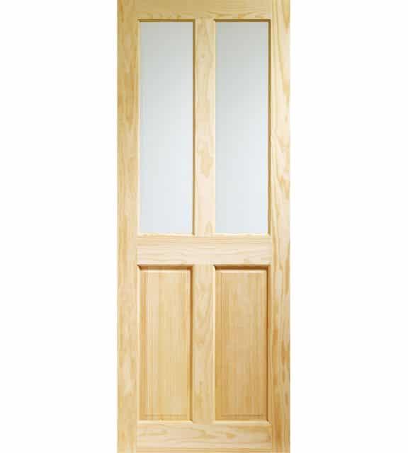 victorian 4 panel glazed internal door