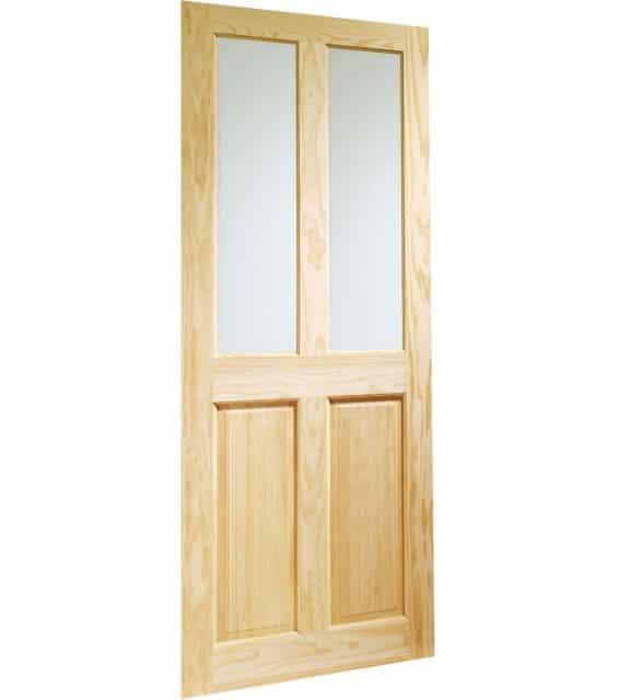 victorian 4 panel interior door glazed