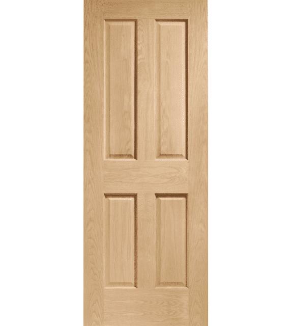 victorian oak 4 panel internal door