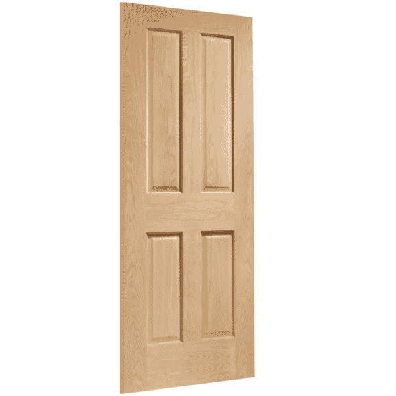victorian oak 4 panel interior door skew