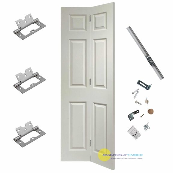 white bifold door and track fitting kit