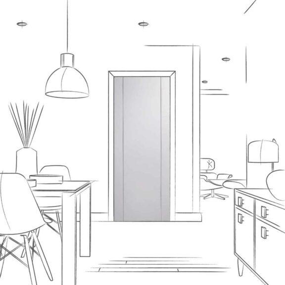 Forli White Interior Door