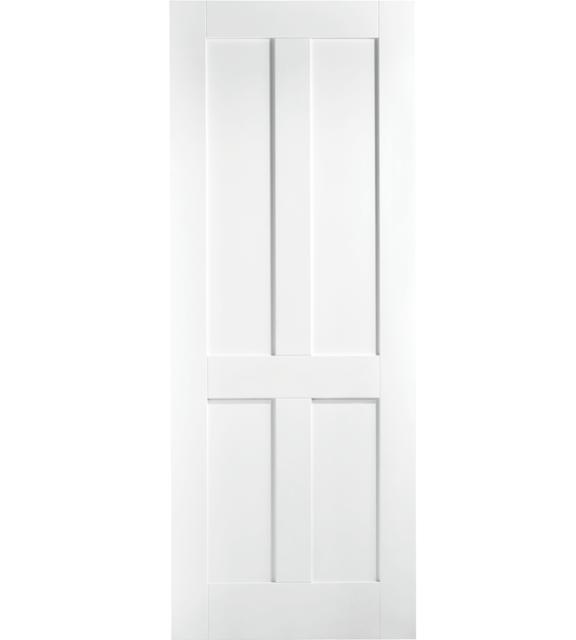 4 Panel London White Internal Door
