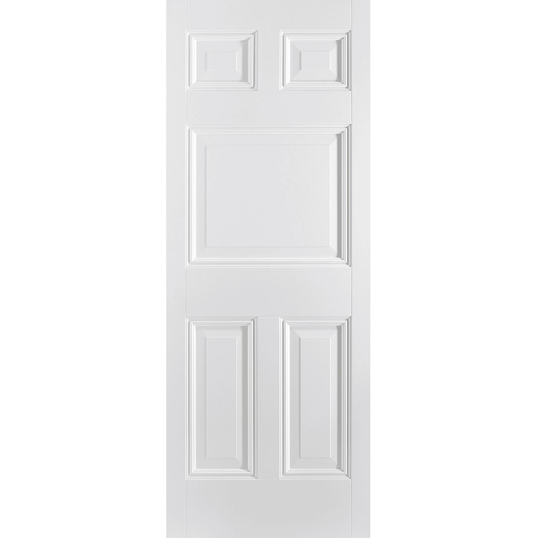 White Paris 5 Panel Internal Door