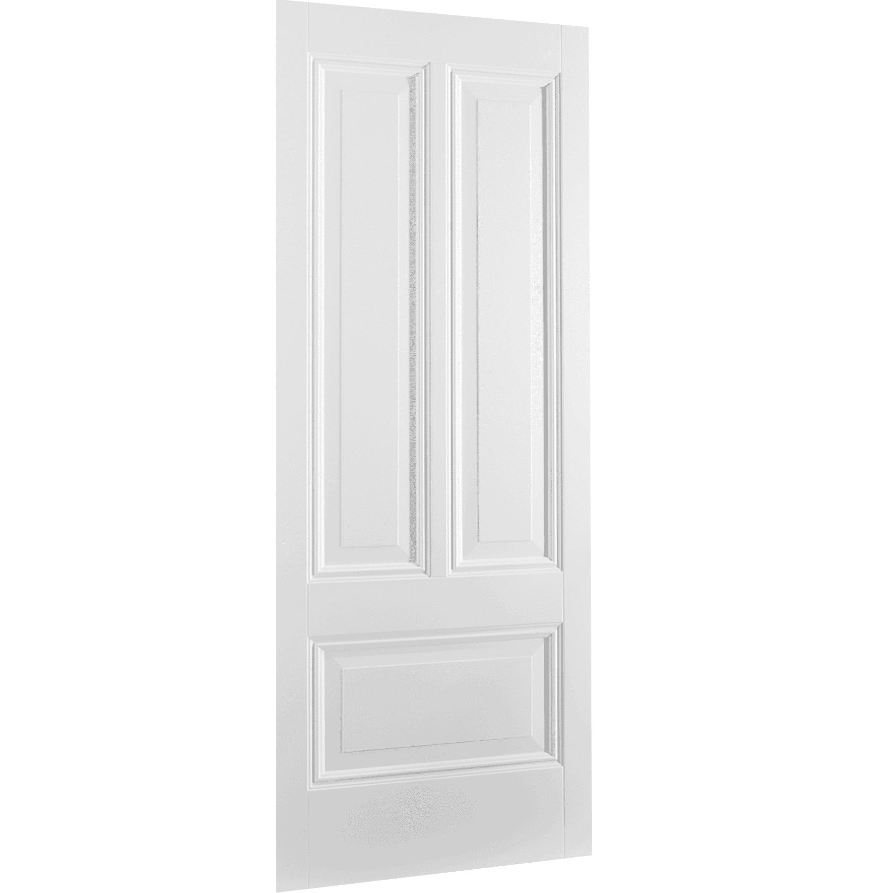 White Peony 3 Panel Interior Door