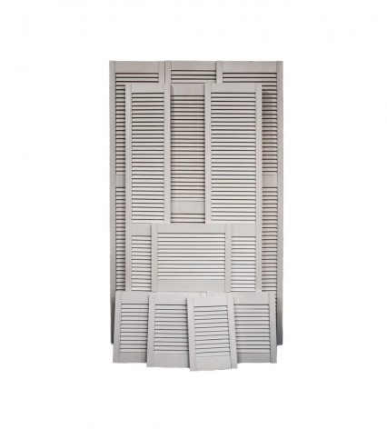 White Louvre Doors - 457mm-x-305mm-x-28mm