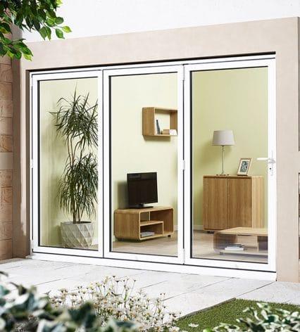 Aluvu Sliding Door Set - white-%e2%80%a2-right-hand-fold