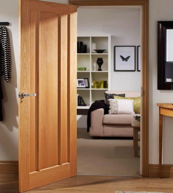 worcester oak internal door living room