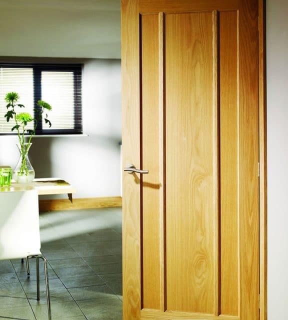 worcester oak internal door office interior