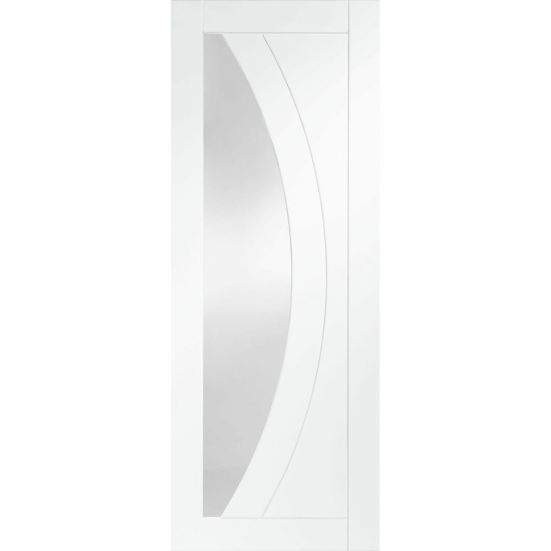 xl joinery salerno internal white primed door with clear glass